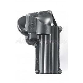 Fobus holster rigide paddle rotatif pour S&W Revolver vue arrière