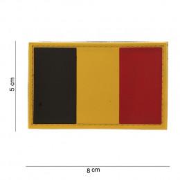 Patch drapeau BELGE en PVC avec velcro