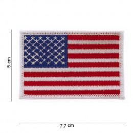 Patch drapeau USA à bord blanc sans velcro