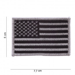 Patch drapeau USA silver