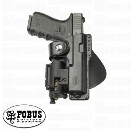 Fobus holster rigide paddle rotatif tactical pour Glock 19