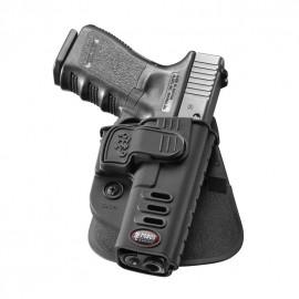 Fobus holster rigide paddle rotatif rétention active pour Glock 17/19