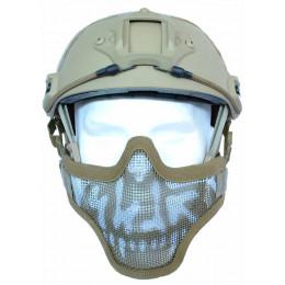 Masque de protection faciale version 1 en Skull Tan