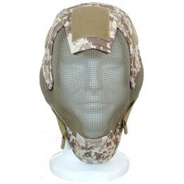 Masque de protection faciale V6 en Digital Desert