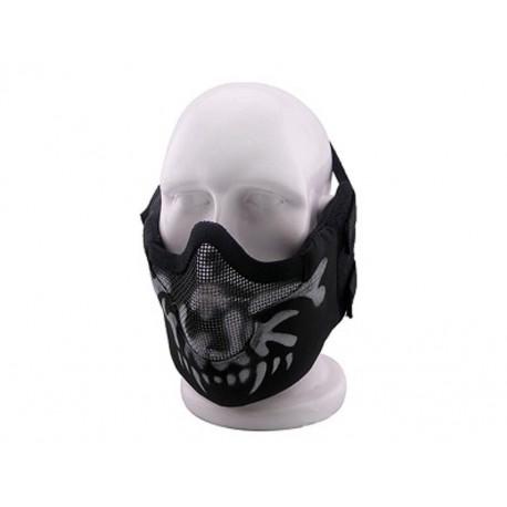 Masque de protection faciale V8 en Skull noir