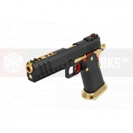 AW GBB HX2002 Black/Gold/Red full slide vue 5
