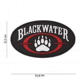 Patch logo Blackwater avec velcro en PVC