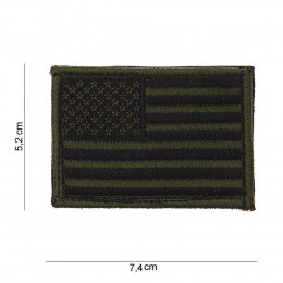 Patch tissus drapeau USA Vert olive