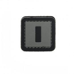 Patch PVC d'identification avec velcro lettre I Gris/noir