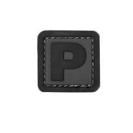 Patch PVC d'identification avec velcro lettre P Gris/noir