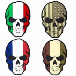 Patch PVC avec velcro Skull en divers couleurs