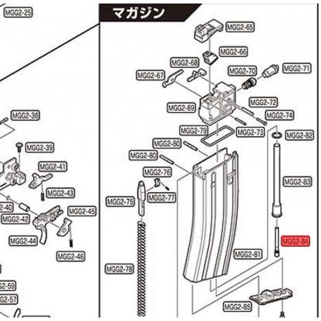 Tokyo marui valve de remplissage pour chargeur GBB et GBBR