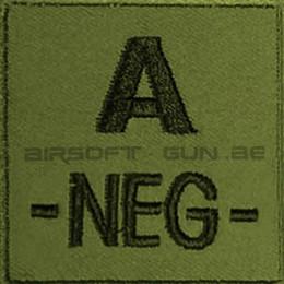 Patch velcro de groupe sanguin tissu vert ( od )