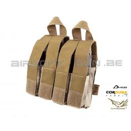 Flyye Molle double poche chargeur M4 et quadruple poche GBB A-tacs