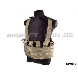 Swat front chest rig A-tacs