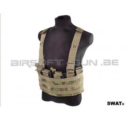 Swat front chest rig A-tacs Fg