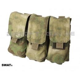 SWAT cordura triple poche MOLLE M4 A-tacs FG
