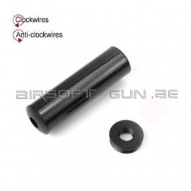 King arms silencieux en carbon pour GBB ou AEG 32x105mm