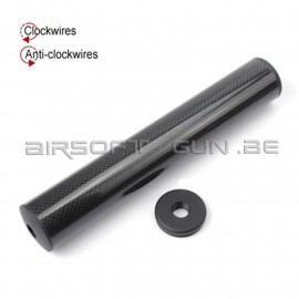 King arms silencieux en carbon 41x245mm