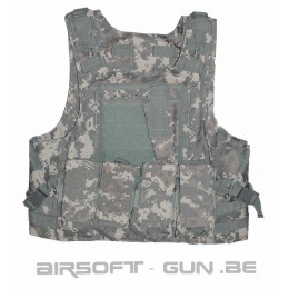 Gilet RAV MOLLE + poche Divers camouflage