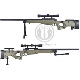 WELL MB08 G96 AW.338 sniper avec Bipied et lunette ( TAN )