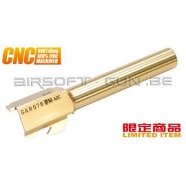 Guarder Canon externe CNC Titanium Gold pour G17 Marui