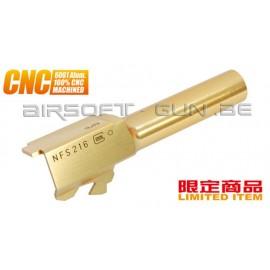 Guarder Canon externe CNC Titanium Gold pour G26 Marui