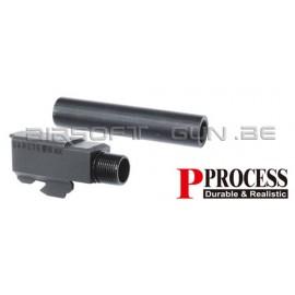 Guarder Canon externe CNC acier pour G17/18C Marui NOIR