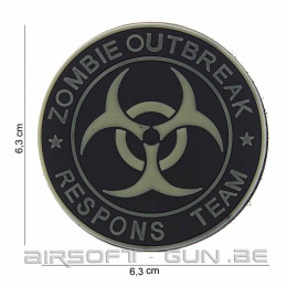 Patch PVC zombie outbreak response team 3D en divers coloris