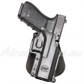 Fobus holster rigide paddle rotatif pour Glock Glock 17/18/19/20/21/23/37
