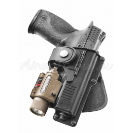 Fobus holster rigide paddle rotatif tactical + charnière pour Walther P99