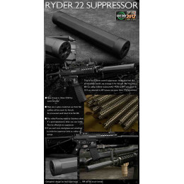 Silencieux Ryder .22 suppressor