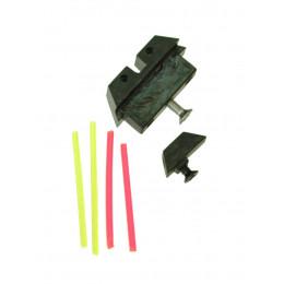 Mire de visée full carbon avec fibre optique avant et arrière pour Glock marui GBB