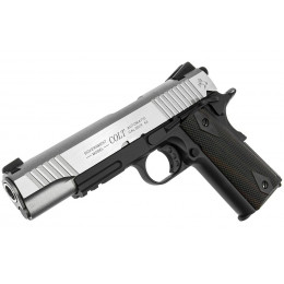 Colt 1911 Rail gun Co2 silver