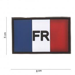 Patch PVC drapeau de la France + lettres FR