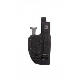 Holster rigide Cordura de ceinture à relâchement rapide noir