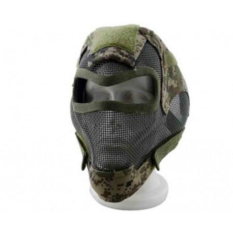 Masque de protection faciale V7 en digital woodland