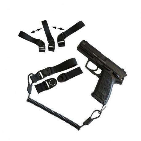 Système de rétention dragonne pour arme de poing / GBB