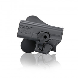 Holster polymer paddle gaucher pour Glock 19, 23, 32 Gen (1, 2, 3, 4)