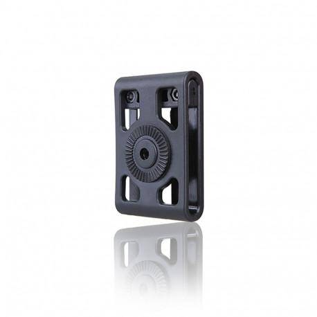 Adaptateur de ceinture réglable pour holster et porte chargeur rotatif Cytac