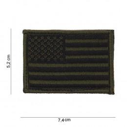 Patch tissus drapeau USA Vert olive