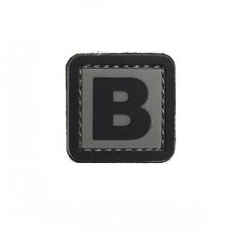 Patch PVC d'identification avec velcro lettre B Gris/noir