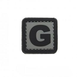 Patch PVC d'identification avec velcro lettre G Gris/noir