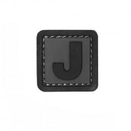 Patch PVC d'identification avec velcro lettre J Gris/noir