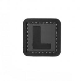 Patch PVC d'identification avec velcro lettre L Gris/noir