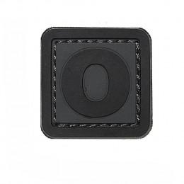 Patch PVC d'identification avec velcro lettre O Gris/noir