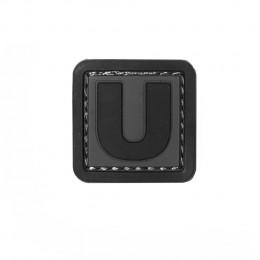Patch PVC d'identification avec velcro lettre U Gris/noir