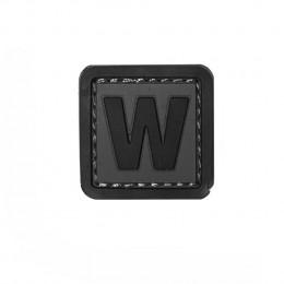 Patch PVC d'identification avec velcro lettre W Gris/noir
