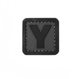 Patch PVC d'identification avec velcro lettre Y Gris/noir
