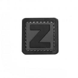 Patch PVC d'identification avec velcro lettre Z Gris/noir